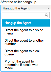 Hang up the agent