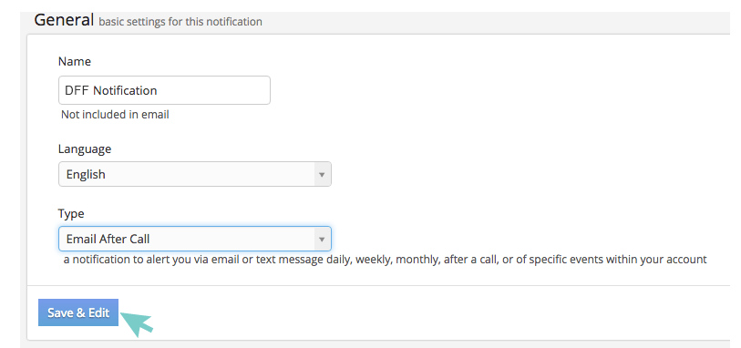 Select your Notification Language
