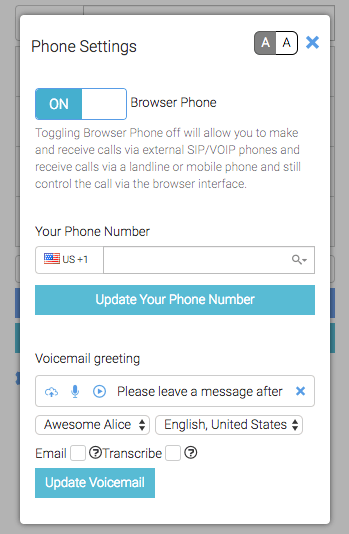 Update your phone number
